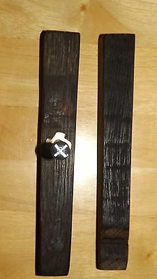 Door & Drawer Handles. Handmade.Vintage Oak Barrel Staves. A Pair