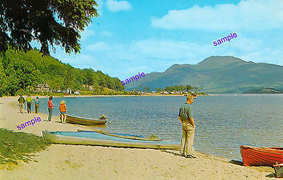 Scotland Loch Lomand Vintage Onlookers Over This Beautiful Loch