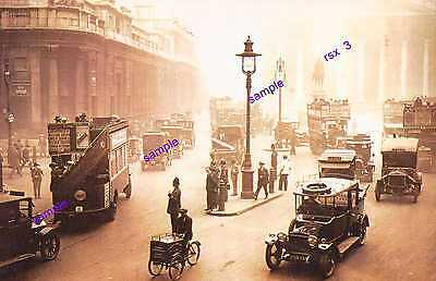 1922 London Bank,Taxis,Buses,Thats Me on The Tric Bike !!