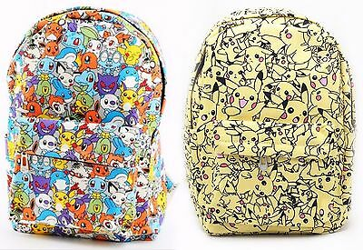 New Pikachu Backpack Pokemon Go Shoulder Bag School college Gift Rucksack UK