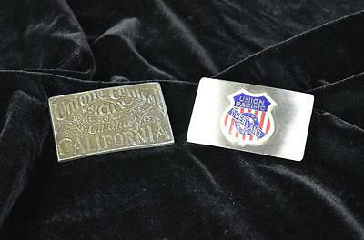 Pair of Union Pacific Belt Buckles