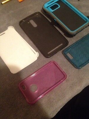 5 Lot Of Used Cell Phones Case. Samsung Galaxy, Iphone 4s