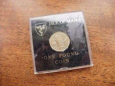 Isle of Man  One Pound Coin £1 Boxed