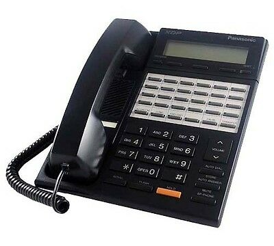 Panasonic KX-T7230-B 2-Line LCD Display 24 Button Speakerphone XDP Black
