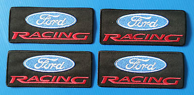 4 Lot FORD RACING 4.5  Embrodered Iron Or Sewn On Patches Free Shipping