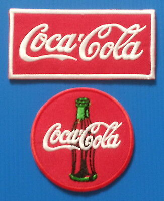 2 LOT COCA COLA 3. & 4. INCH Embrodered Iron Or Sewn On Patches Free Ship