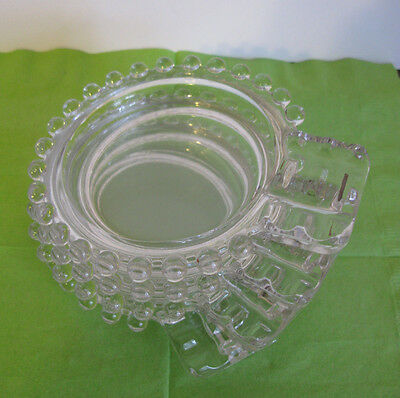 4 Candlewick Ashtrays    Excellent Condition