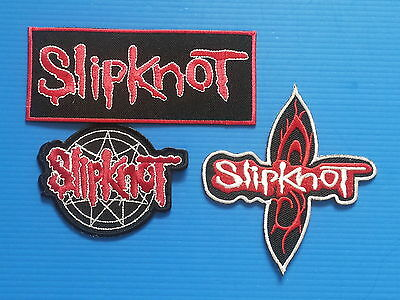 3 LOT SLIPKNOT Embrodered Iron Or Sewn On Patches Free Ship