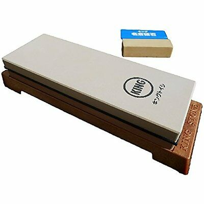 Knife Sharpeners King Japanese Grit 1000/6000 Combination Sharpening Stone KW-65