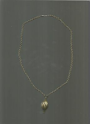 Antique  silver  byzantine  or  otoman  necklace  years  1800. GOLD PLATED