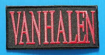 VAN HALEN  Rock Pop  Embroidered Iron Or Sewn On Patch Free Ship