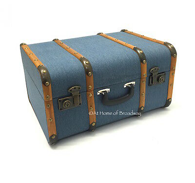 Antique Suitcase Style Wooden Decorative Home Storage Chest / Trunk. Large