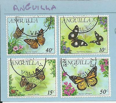 Anguilla - 1971 Butterflies - Fine used set