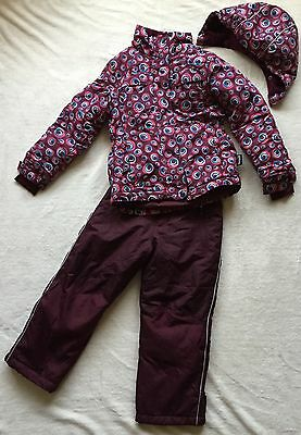 girls Alpinetek snow suit Jacket Trousers age 7 Years