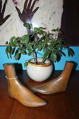 Vintage 1920s: Pair of Womens Wooden Shoe Lasts Forms Stretches 3-6