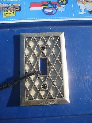 Vintage ***   Thick Diamond Pearl - EDMAR   *** 1-Gang Toggle Switch Wall Plate