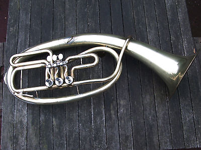 Late 20th century Oval Rotary Valved Bb Tenorhorn