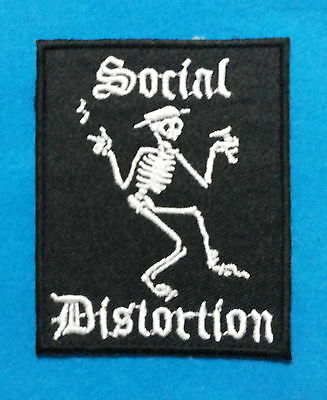 SOCIAL DISTORTION  Embroidered Sewn On Iron On  Patch Free Ship