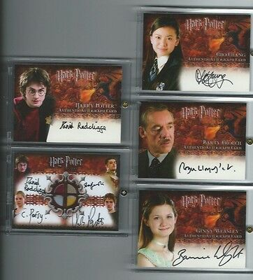 Harry Potter Goblet of Fire GOF Update AUTO autograph Radcliffe Potter