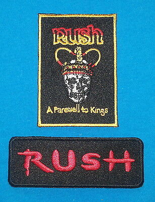 2 LOT RUSH CANADIAN THRASH METAL Band Patches W/ Free Shipping