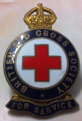 Red Cross Society Badge For Service Very Good Condition