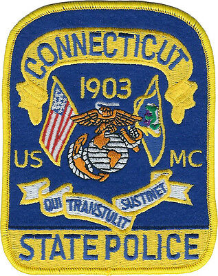 Connecticut State Police USMC Shoulder Patch - United States Marine Corps - New