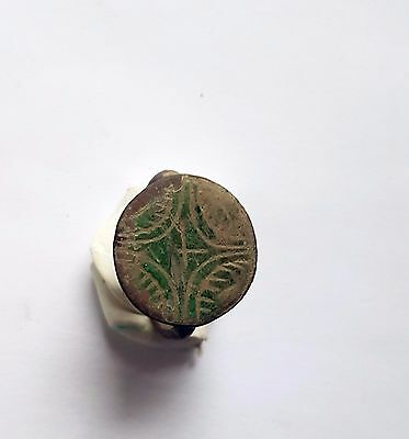 Ancient Byzantine Empire, c. 8th - 10th AD. Bronze Ring, Cross