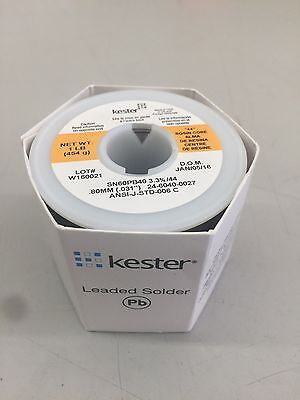 Kester Wire Solder Rosin .031 24-6040-0027 Ra Flux 44 66 Core 1 Pound Roll