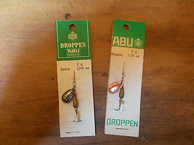Vintage ABU Droppen spinners - 2g x 2