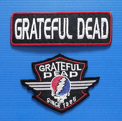 2 LOT GRATEFUL DEAD PUNK ROCK Iron Or Sewn On Patches Free Ship