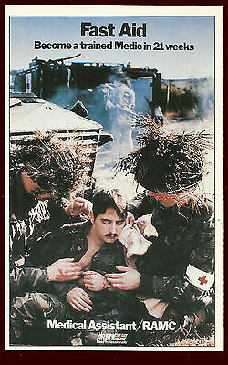 (39928) Fast Aid. Medical Assistant / RAMC. Army Recruitment Poster Postcard