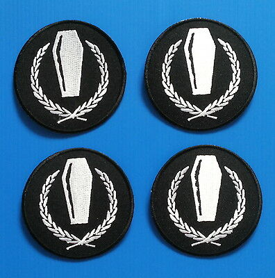 4 RARE  MY CHEMICAL ROMANCE Embrodered Iron Or Sewn On COFFIN Patches Free Ship