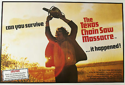 The Texas Chainsaw Massacre AUTHENTIC RR UK Quad Poster Tobe Hooper