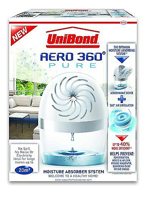 UniBond Aero-360 Pure Moisture Absorber Device+450gr Tab! NEW! FREE UK DELIVERY!