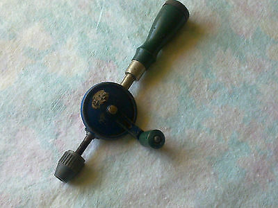 Hand Drill / Small / For Speciality Work / Vintage / Rare / Egg Beater Type