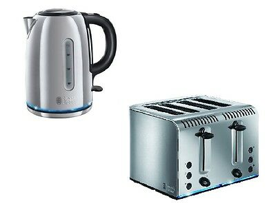 Russell Hobbs Buckingham Kettle And 4 Slice Toaster Set In Stainless Steel