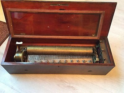 Antique Cylinder Music Box LeCoultre & N Freres