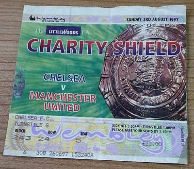 Chelsea Manchester United Charity Shield ticket 1997