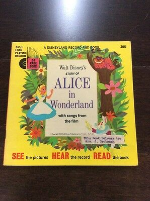 A Disneyland Record And Book Of Alice In Wonderland 1951 306