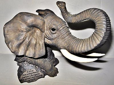 Unique Sitting Elephant Lucky Figurine Statue Grey Gray Book End