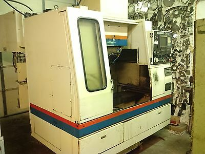CNC Vertical Machining Center, Takisawa with 4th axis rotary installed
