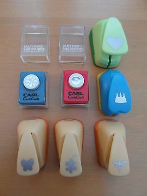 Set of 7 Paper Punches