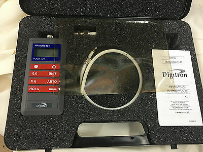 Digitron Manometer P200 AH Complete with case + instructions