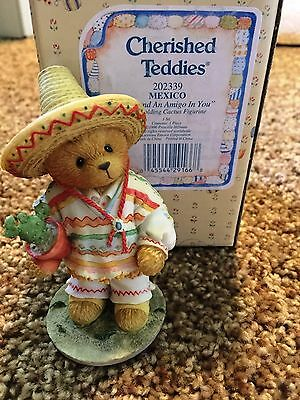 Cherished Teddies Mexico Mint Rare Enesco 1996 Low Numbers 202339 6R0/788