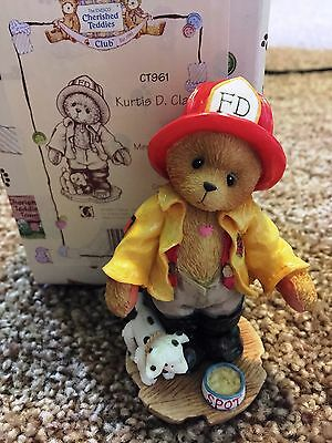 Cherished Teddies Kurtis D Claw Mint Rare Enesco 1996 Members Only CT961