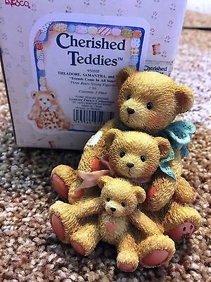 Cherished Teddies Theadore Samantha Tyler Mint Rare Enesco 1991