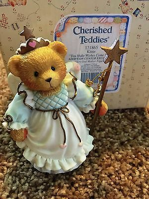 Cherished Teddies Kittie Mint Rare Enesco 1996 Low Numbers!  6e7/087 131865