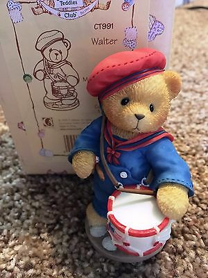 Cherished Teddies Walter Mint Rare Enesco 1999 Members Only CT991