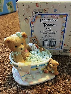 Cherished Teddies Betty Mint Rare Enesco 1993 Low Numbers 626066 5ss5/620