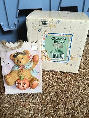 Cherished Teddies Halloween Figure 1995 Your a Sweet Treat 141879 Mint Rare